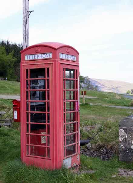 Schottische Telefonzelle